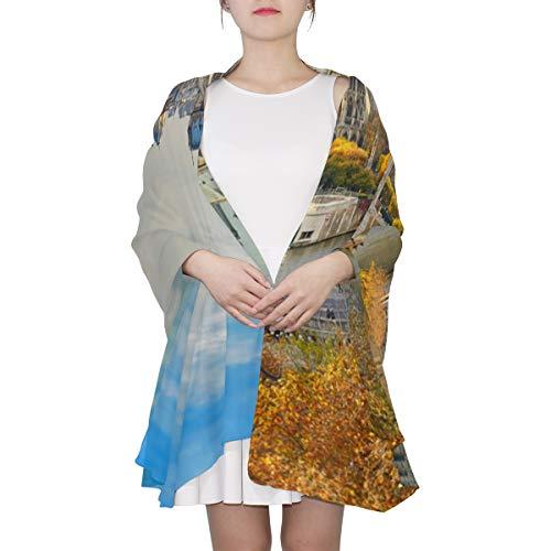 Soft Wrap Shawl Notre Dame De Paris Beauty Autumn Large Scarfs For Women Lightweight Long Scarf Lightweight Print Scarves Shoulder Scarf Best Scarfs For Women