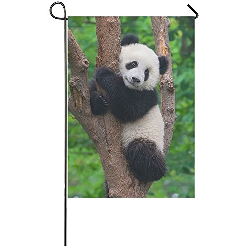Starclevel Cute Panda In Tree Polyester Garden Flag House Banner 12 X 18 Inch Chinese Bear Decorative Flag Wedding Party Yard Home Outdoor Decor Wantitall