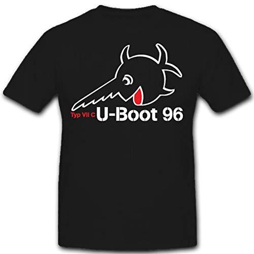 U 96 Typ VII C U-Boot Unterseeboot deutsche Marine WK 2 - T Shirt #10645, Größe:3XL, Farbe:Schwarz