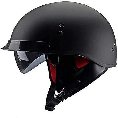 ZHXH Convertible Harley retro medio casco adultos hombres y