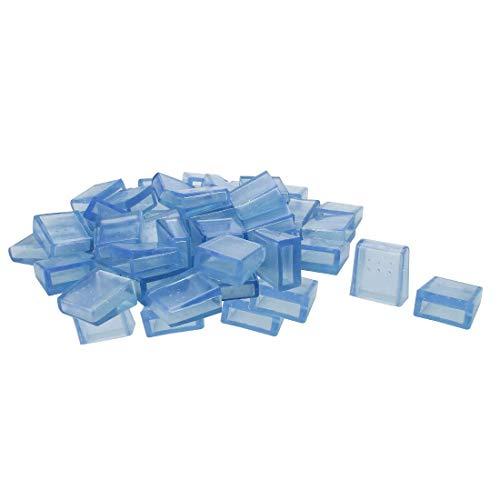 YeVhear Claro Azul PVC Silla Jamba Cubre Delgado Pies Manta Muebles Glide Suelo Protector 36 Piezas 0,39 pulgadas x 1,18 pulgadas 10 x 30 mm Tamaño Interior Reduce el ruido Evita los arañazos