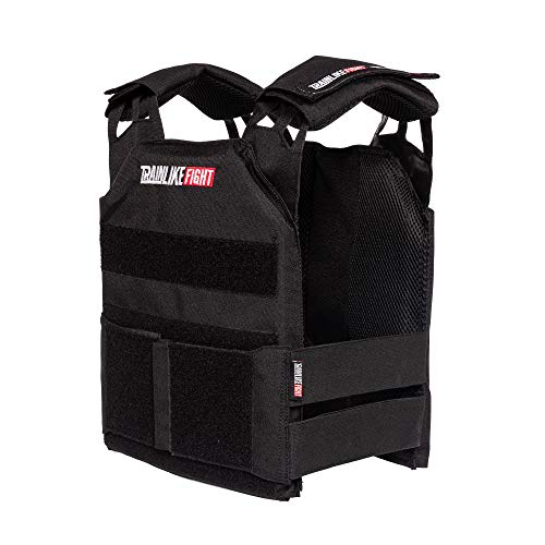 TRAINLIKEFIGHT MEV Entry Vest - Chaleco Lastrado Ajustable para Entrenamiento, Cross Training, calistenia o Fitness (Apto para Placas lastradas) - Black/Negro