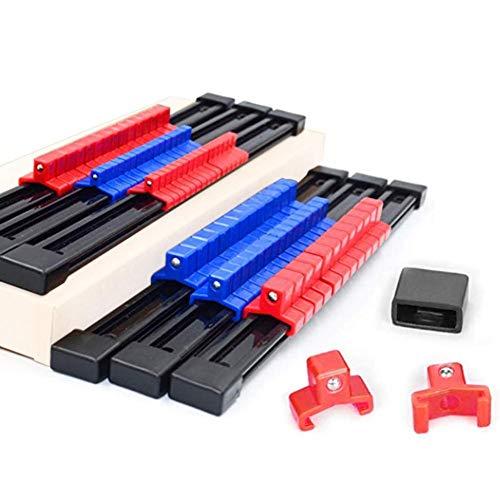 iBàste Steckdose Veranstalter ABS Tragbarer Sockel Schienenhalter mit 32PCS 1/4 Zoll 30PCS 3/8 Zoll 24PCS 1/2 Zoll 6PCS
