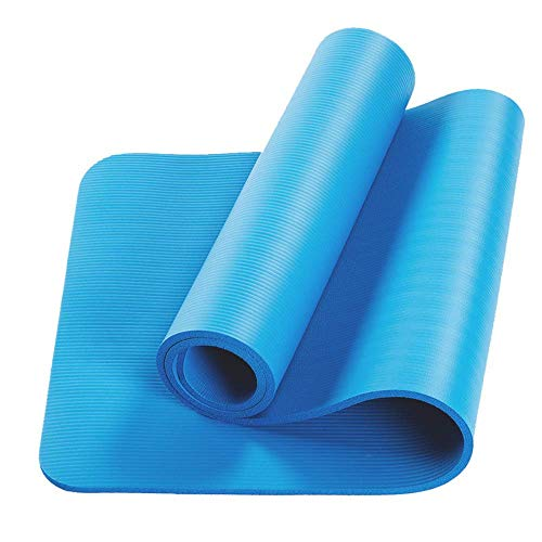Bcamelys Yoga Mat, 10Mm Exercise Fitness Mat High Density Non-Slip Workout Ma for Yoga Pilates & Exercises, Anti - Tear, Sweat - Proof, Classic Non-Slip Mat Meditation Mat