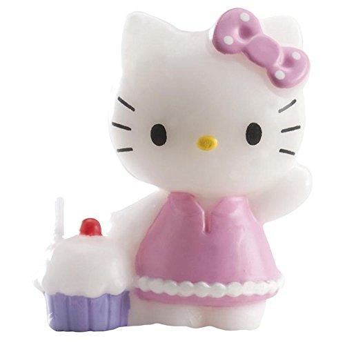 Dekora 346060 Hello Kitty Kerze, 7 cm