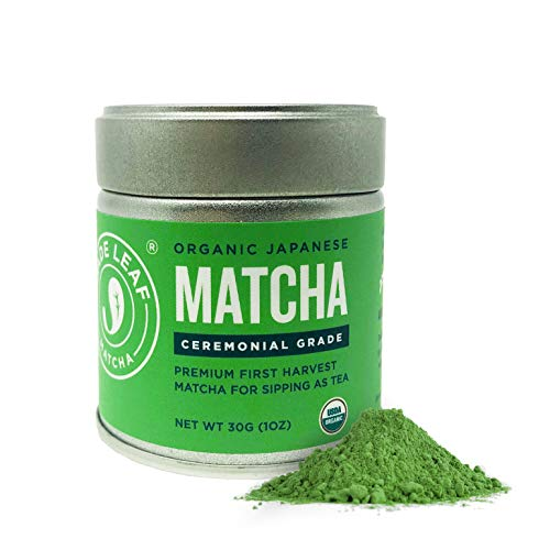 Jade Leaf Organic Ceremonial Grade Matcha Green Tea Powder - Authentic Japanese Origin - Teahouse Edition Premium First Harvest (1 Ounce)