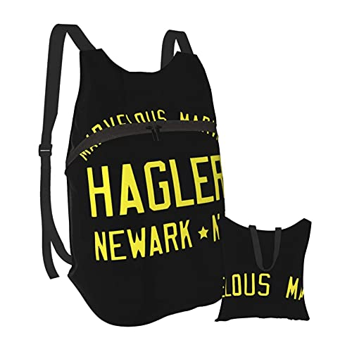 Yuanmeiju Marvin Hagler Boxing Gym Training Mochila de senderismo Hombres y mujeres Mochila plegable portátil impermeable Viajes Deportes Compras Ultra