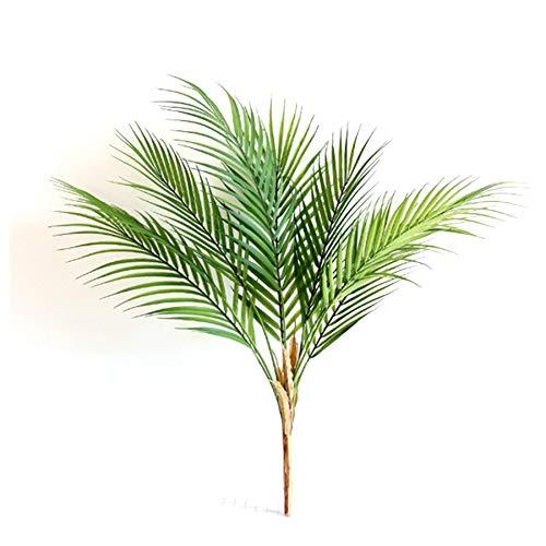 Kuinayouyi Hoja de Palma Artificial Planta Artificial Verde Hojas de Plantas Artificiales para la DecoracióN del Hogar (9 Hojas Verdes)