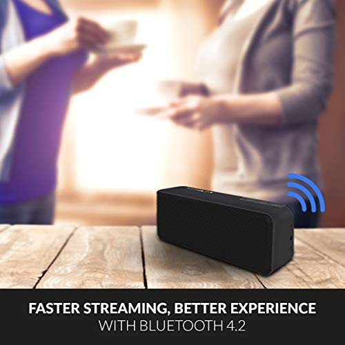 Instaplay Insta X3 10W Bluetooth Speaker with Deep Bass, Portable, Xtra long batter life and speaker with mic (Black)