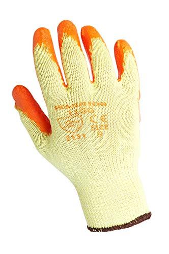 Warrior - Gants de travail orange grip 11GG taille 10 XL 12 paires