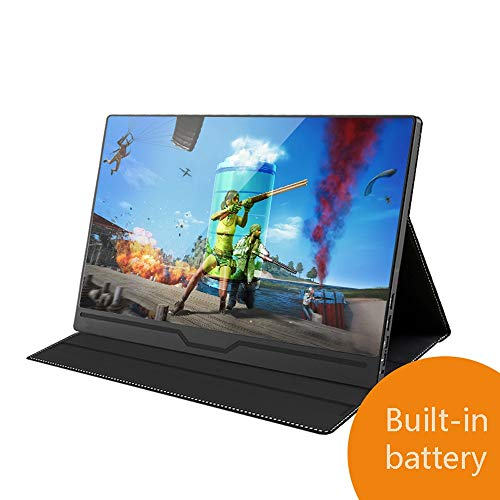 4K Portable touch screen monitor, 15,6 Inch Slim IPS 16: 9 scherm, slechts één type-C-kabel Drive Video Kracht En Touch, HDMI/On USB-C 3.1 Gen 2 ingebouwde luidsprekers Laptop Monitor, Gaming Monito