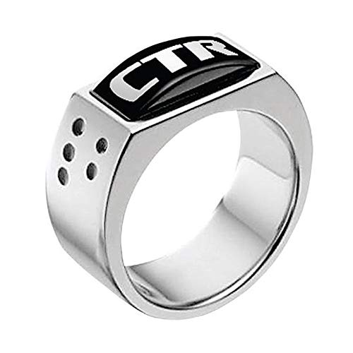 J142 Size 12.5 Stainless Steel Illusion CTR Ring Mormon LDS Unisex One Moment in Time