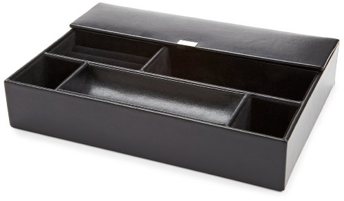 WOLF 290402 Heritage Valet Tray, Black