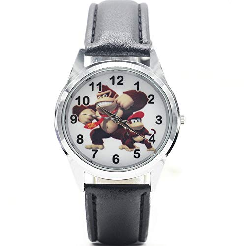 XINTENG Mario Bros Reloj Mario Bros Donkey Kong Reloj de cuarzo para niños Deportes Moda Dibujos Animados Reloj de Pulsera Niño Estudiantes Navidad Relogio Regalo Reloj