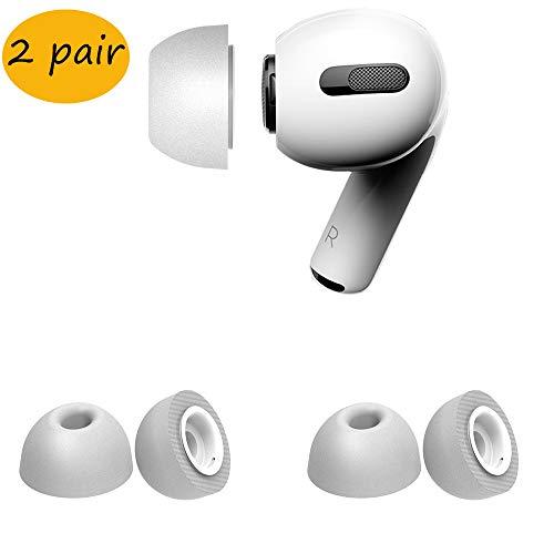 Ohrstöpsel Tips Kompatibel mit Airpods Pro Kopfhörer Tips Memory Foam Ohrhörer Ersatz In-Ear Ear Tips Kompatibel mit Airpods Pro 2019 Kopfhörer Ohrhörertips Kissen Schutzhülle (groß, grau-2 Paar)