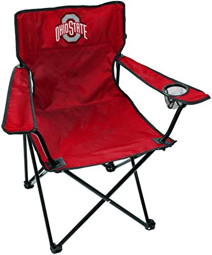 Rawlings NCAA Gameday Elite Lightweight Folding Tailgating Chair with Carrying Case Ohio State product image