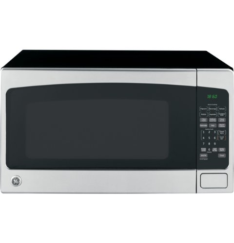 GE 2.0 Cubic Foot Countertop Microwave Oven, Silver (Renewed)