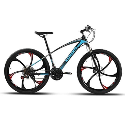 Bicicleta de Montaña con Doble Suspensión y Frenos de Disco, Estructura de Acero al Carbono Motion Mechanics,Blue