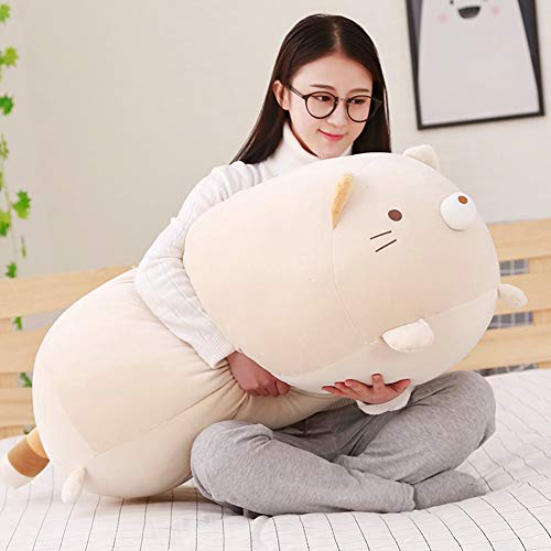 Big Cat Plush Pillow,Large Fat Cats Stuffed Animals Toy Doll for Girls,Bed,35.4 inches
