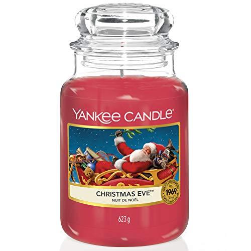 Yankee Candle Duftkerze im Glas (groß) | Christmas Eve | Brenndauer bis zu 150 Stunden