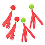 Garneck Bola de Bádminton de 4 Bolas de Paleta de Color Bola de Bádminton Velocidad de Patada para Deportes Escolares (Color Aleatorio)