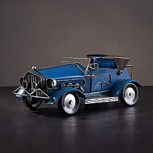 JSFQ Oldtimer Modell Dekoration Ornament Vatertagsgeschenk Hochwertiges Metall Material Robust und langlebig 5 Styles (Color : E)