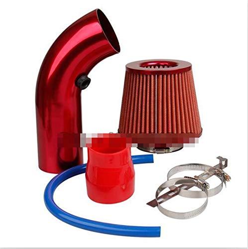 JXXDDQ Universal Car Frío Air Filtro de admisión Alumimum Kit de inducción Sistema de Manguera de tubería Filtro de Aire Azul Rojo 76mm / 3 Pulgadas Cabeza de Hongo (Size : Red Air Filter Kit)