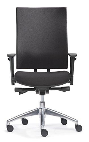Sitwell Gernot Steifensand Bürostuhl Ergo Office Polster mit Alu-Fußkreuz und Armlehnen, schwarz