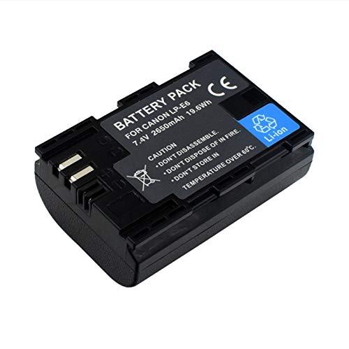 RFGTYH Baterías 2650mAh LP-E6 LPE6 LP E6 para Canon 5D Mark II...