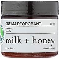 Milk Plus Honey, Deodorant Coconut Vanilla, 2.5 Ounce