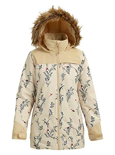 Burton Damen Lelah Snowboard Jacke, Canvas Birds/Pebble, XL