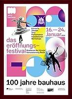 ポスター バウハウス 100 Jahre Bauhaus Festival 2019 white 額装品 ウッドベーシックフレーム(ブラウン)