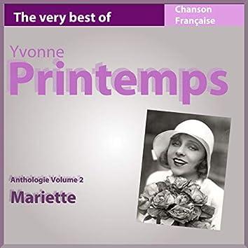 The Very Best of Yvonne Printemps: Mariette (Anthologie, vol. 2)