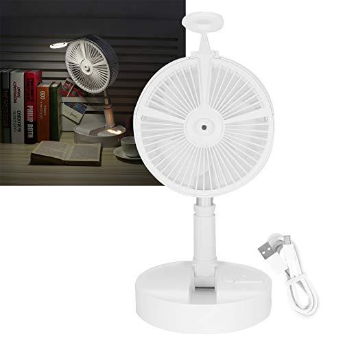 Deror Ventilador telescópico portátil con luz Nocturna de Spray hidratante humidificante Ventilador de Piso Plegable Recargable USB