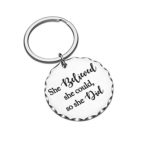 Inspirational Graduation Gift for Nurse Graduate Students Girls Teen Best Friend BFF Women She Believed She Could so She Did Keychain Birthday Gift for Girl Friends Daughter Sister Mother Key Ring