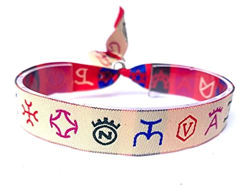 Pulsera de tela Taurina con logotipos de Ganaderías color blanco