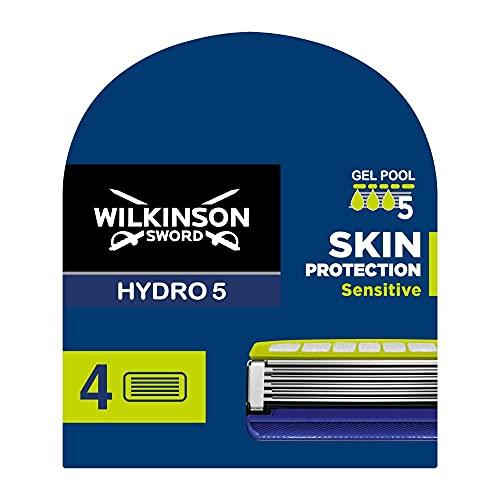 Wilkinson Sword Hydro 5 Skin Protection Sensitive Rasierklingen, 4 Rasierklingen