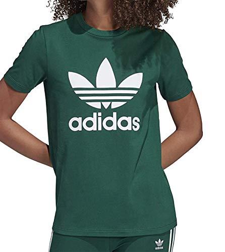 adidas Trefoil Tee, Maglietta Donna, Collegiate Green, 40 IT