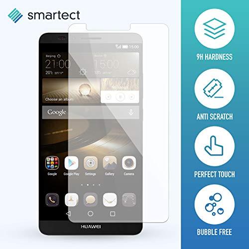 smartect Panzerglas kompatibel mit Huawei Ascend Mate 7 [2 Stück] - Displayschutz mit 9H Härte - Blasenfreie Schutzfolie - Anti Fingerprint Panzerglasfolie - 2