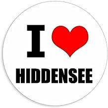 I love Hiddensee stickers in 2 maten verkrijgbaar meerkleurige sticker Decal 8 x 8 cm