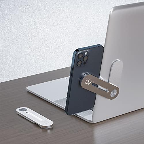 AC GSM Support téléphone Portable Ordinateur avec Clip latéral, Support de téléphone magnétique , Moniteur Ordinateur Portable Universel, Extension d'ordinateur Portable (Noir)