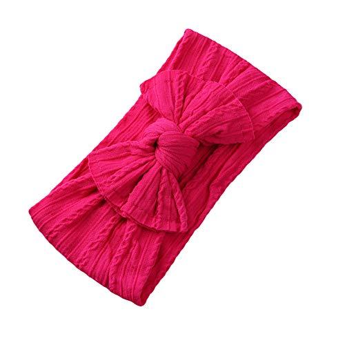 Sanwood Bowknot Bandeau Doux Large Coiffure Enfant Enfants Filles Bande De Cheveux Accessoires Photo Rose Red