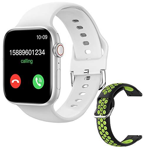 ZGLXZ T800 Smartwatch 1.72 Pulgadas Bluetooth Llamada DIY AIL Aptitud Pulsera Smart Watch para Hombres Y Mujeres PK IWO W46 W56 Series 6 para iOS Android,L