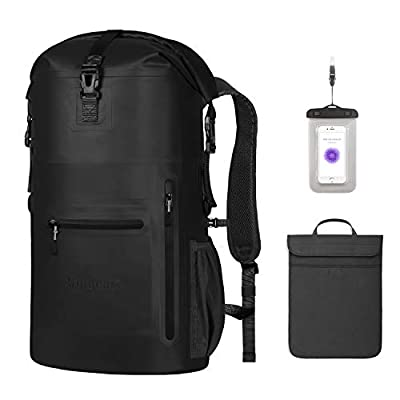 Unigear Waterproof Backpack Floating Dry Bag 35L with a Detachable Laptop Bag and 4 Zipper Pockets, Ventilated Padded Back and Straps for Comfort