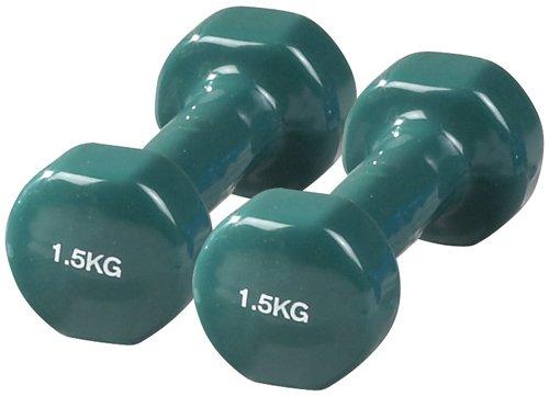 Sveltus Epoxy, Mancuernas, Pack de 2 x 1.5 kg, Verde