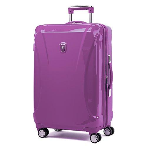 Atlantic Luggage Atlantic Ultra Lite Hardsides 24' Spinner Suitcase, bright violet, Checked Medium
