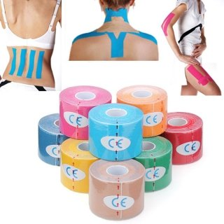Flying Colourz Kinesiologischen Muskelpflege Band Sportlich Therapeutic Sports Tapeverband 5cm x 5m Gelb