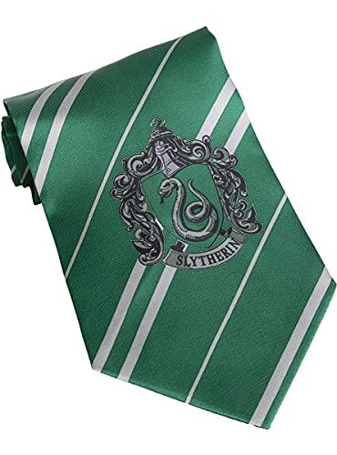 Funidelia | Harry Potter Slytherin Krawatte 100% OFFIZIELLE für Herren und Damen ▶ Hogwarts, Zauberer, Film und Serien, Zubehör für Kostüm - Lustige Kostüme für Deine Partys