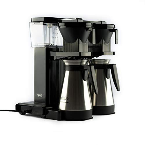 Moccamaster Filter Kaffeemaschine KBGT20, 2x 1.25 Liter, 2900 W, Black