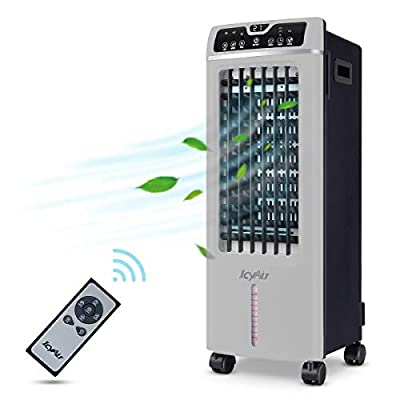 Portable Air Conditioner, Quiet Mobile Air Cooler with Ice Tray & Remote Control, Low Energy with Fan & Humidifier, Conditioning for 125 Square Feet, 7.5-Hour Timer Function, Suitable Home Office AC